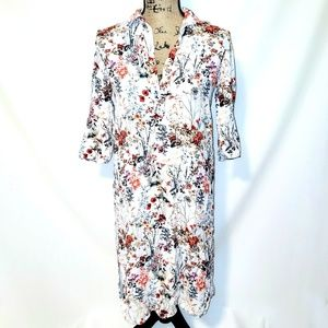 Zara Woman | Fall Floral T-Shirt Dress